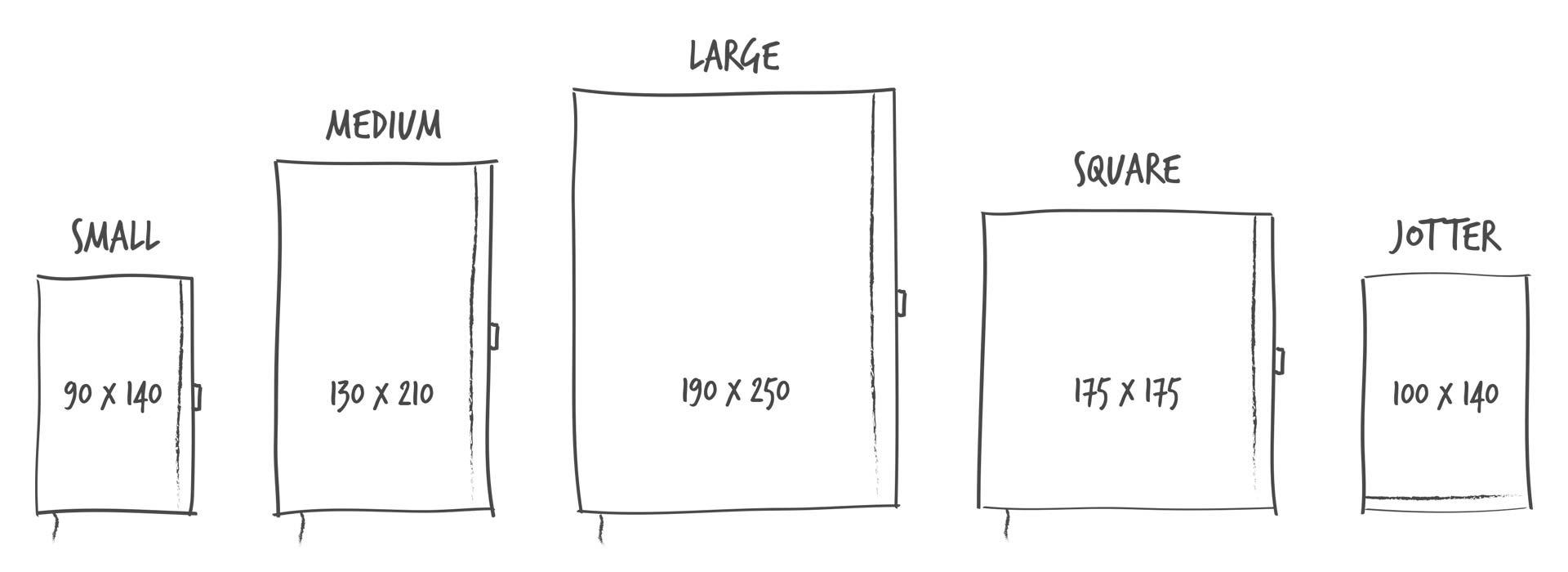 Notizbücher - Formate